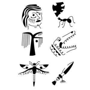 Pochoir Tatouage Temporaire Crocoste