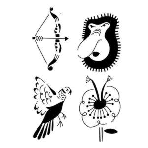 Pochoir Tatouage Temporaire Nazo