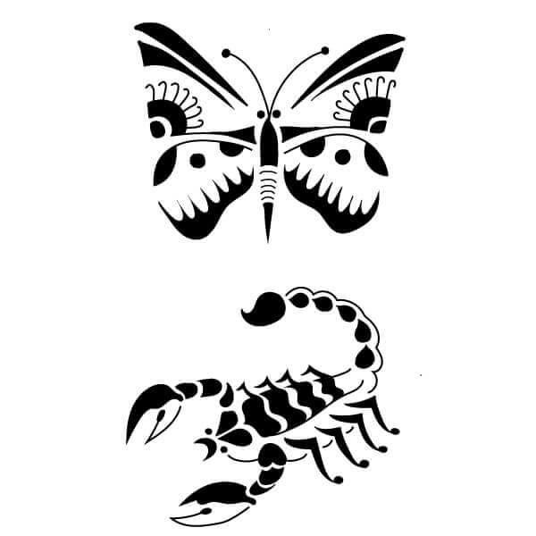 Pochoir Tatouage Temporaire Volepique