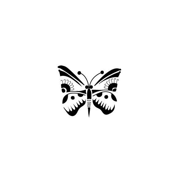 Pochoir Tatouage Temporaire Papillon
