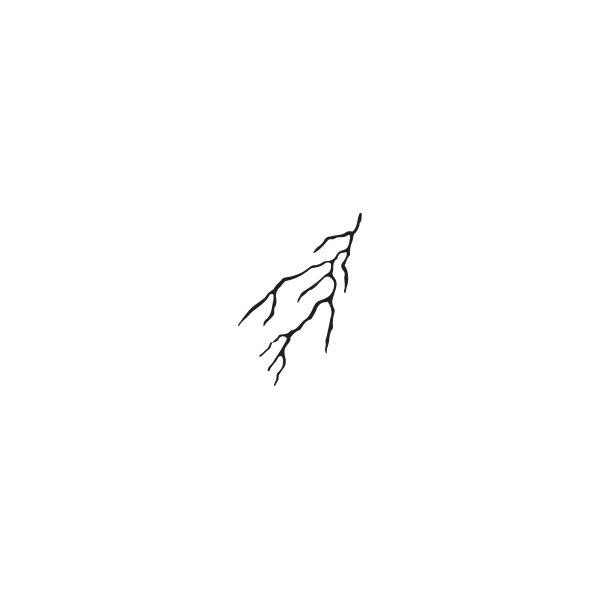 Pochoir Tatouage Temporaire Foudre