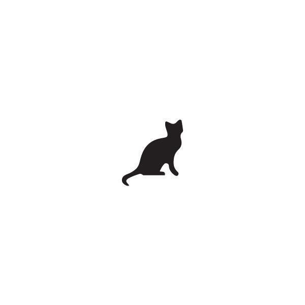 Pochoir Tatouage Temporaire Gato Negro