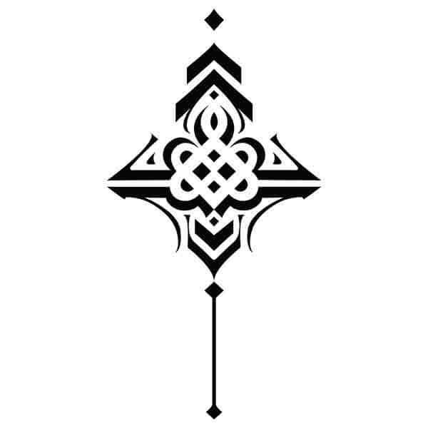 pochoir Tou kio tse pour tatouage au jagwa
