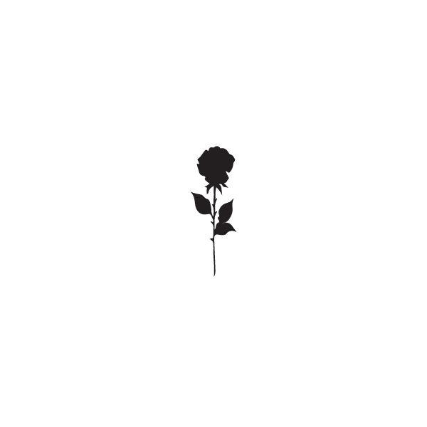 Pochoir Tatouage Temporaire Rose