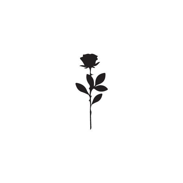 Pochoir Tatouage Temporaire Rose Noire